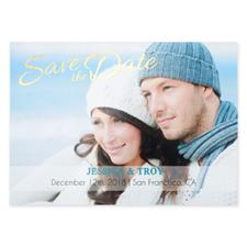 Créez vos propres cartes d'invitation de mariage réservez la date personnalisées feuille d'or charmé