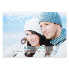 Créez vos propres cartes d'invitation de mariage réservez la date personnalisées feuille d'argent charmé