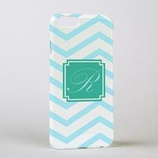 Aqua Chevron Personalized iPhone 6 Case