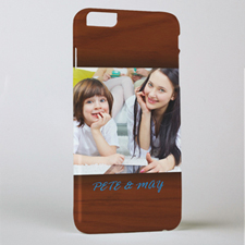 Framed In Wood Personalized Photo iPhone 6+ Mobile Case