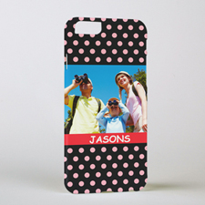 Polka Dots Personalized Photo iPhone 6 Case