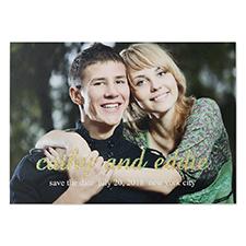 Cartes photo annonce de mariage personnalisées paillettes moi + toi