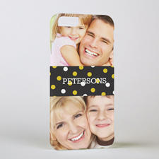 Gold Dots Personalized Photo iPhone 6 Case