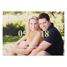 Cartes photo d'annonce de mariage personnalisées paillette moderne classique 12,7 x 17,78 cm