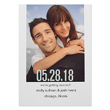 Cartes photo annonce de mariage personnalisées paillettes deux deviennent un