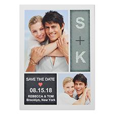 Cartes photo réservez la date personnalisées 12,7 x 17,78 cm rayonnement pur