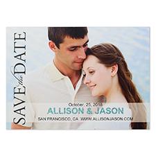 Cartes photo d'annonce de mariage personnalisées paillettes 12,7 x 17,78 cm objectif pour toujours