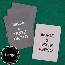Cartes à jouer format large personnalisées (cartes vierges)