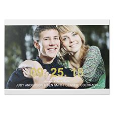 Cartes photo réservez la date personnalisées paillettes grande célébration