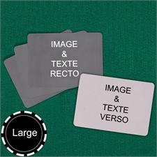 Cartes à jouer personnalisées format large paysage (cartes vierges)