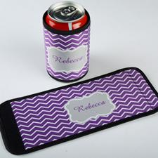 Enveloppe de cannette et de bouteille personnalisée chevron lavande