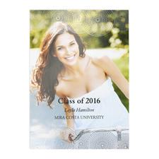 Cartes photo d'annonce de remise de diplômes personnalisées feuille d'argent diplômé parfait