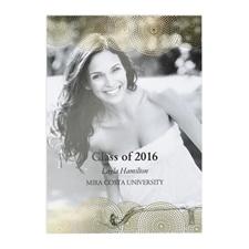 Cartes photo annonce de remise de diplômes personnalisées feuille d'or diplômé parfait