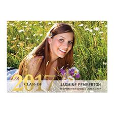Cartes photo d'annonce de remise de diplômes personnalisées feuille d'or diplômé fantaisie