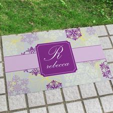 Paillasson personnalisé floral printanier