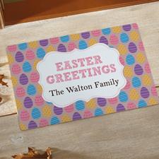 Paillasson personnalisé voeux de Pâques