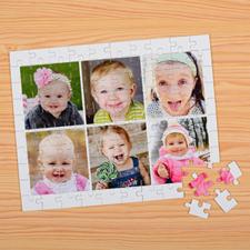 Puzzles pour enfants personnalisés six collage