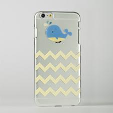 Chevron Whale Custom Raised 3D iPhone 6 Plus Case