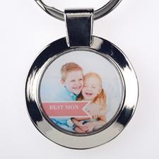 Porte-clé rond personnalisé meilleure maman (petit)