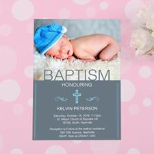 Cartes d'invitation personnalisées honorant le baptême