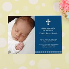 Cartes d'invitation de Baptême personnalisées croix