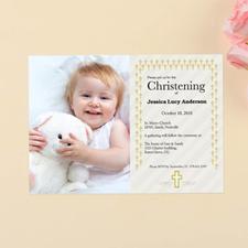 Cartes d'invitation personnalisées baptême première communion
