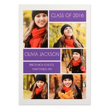 Cartes d'invitation remise de diplômes personnalisées collage diplômé