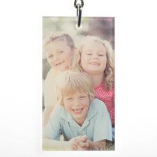Porte-clé en acrylique rectangulaire personnalisé 3,81 x 6,98 cm (1 côté)