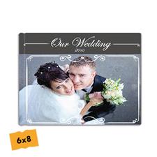 Créez votre album photo mariage couverture rigide 15,24 x 20,32 cm