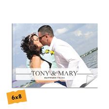 Créez votre album photo mariage couverture souple 15,24 x 20,32 cm