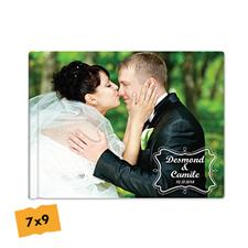 Créez votre album photo mariage couverture rigide 17,78 x 22,86 cm