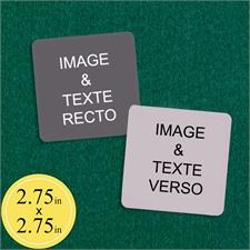 69 x 69 mm Cartes personnalisées (cartes vierges)