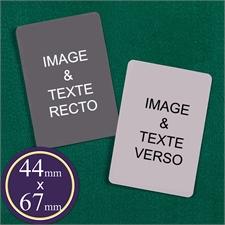 Cartes à jouer mini européennes personnalisées 44 mm x 67 mm