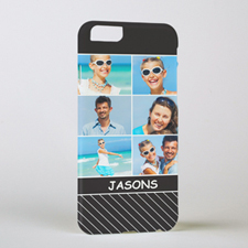 Black Stripe Personalized Photo iPhone 6 Case