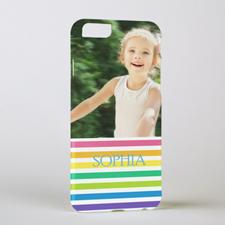 Rainbow Stripe Personalized Photo iPhone 6 Case