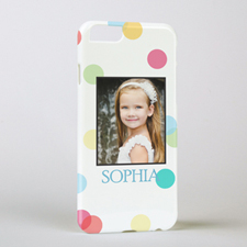 Colorful Dots Personalized Photo iPhone 6 Case