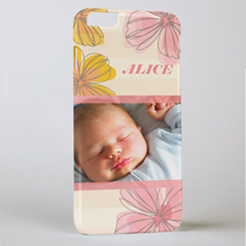 Pink Floral Personalized Photo iPhone 6+ Mobile Case
