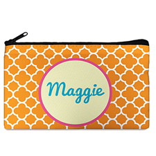 Carol Clover Monogrammedmed Personalized Cosmetic Bag, 5 X 8
