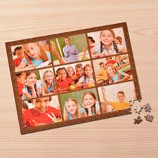 Puzzle photo personnalisé brun 9 collage 30,48 x 41,91 cm