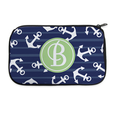 Navy Anchor Personalized Neoprene Cosmetic Bag