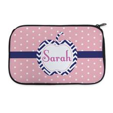 Polka Dot And Apple Personalized Neoprene Cosmetic Bag