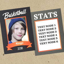 Ensemble de 12 cartes de collection photo personnalisées basket