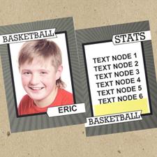 Ensemble de 12 cartes de collection photo personnalisées panier de basket