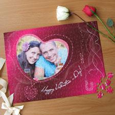 Puzzle photo personnalisé Soit ma Valentine 30,48 x 41,91 cm