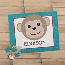 Puzzle pour enfants personnalisé garçon singe