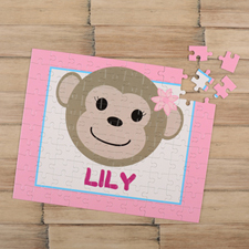 Puzzle pour enfants personnalisé fille singe