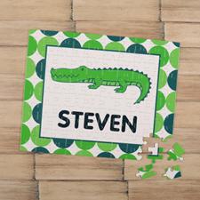 Puzzle pour enfants personnalisé crocodile