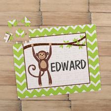 Puzzle pour enfants personnalisé singe