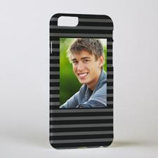 Black Grey Stripe Personalized Photo iPhone 6 Case