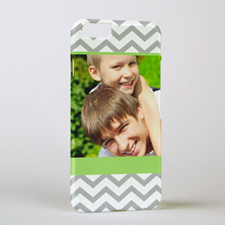 Lime Grey Chevron Personalized Photo iPhone 6 Case